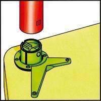 Tischbeinset D60 710-740 chrom gl. FORMAT Bild 2