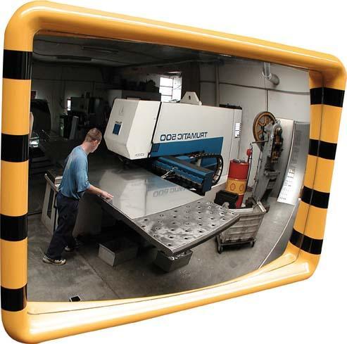 Industriespiegel gelb/schwarz 60x90 cm STRECKE Bild 1
