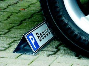 Parkbegr. f. Parkplatzs. Stahl verzinkt Bild 1