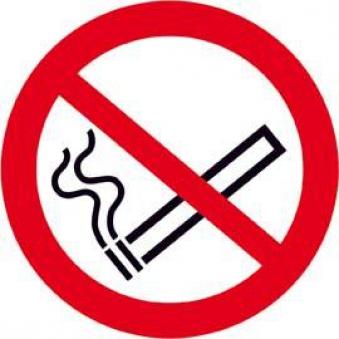 Verbotsschild Alu Rauchen D 100 mm Bild 1