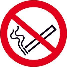 Verbotsschild Fol nachl Rauchen D 100 mm Bild 1