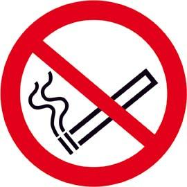 Verbotsschild Fol nachl Rauchen D 200 mm Bild 1