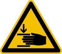 Warnschild Alu gepr Handverletzung SL200mm Bild 1