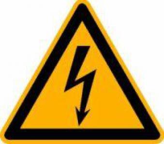 Warnschild Fol 500 St. elektr.Spannung SL15mm Bild 1
