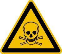 Warnschild Fol Giftige Stoffe SL100mm Bild 1