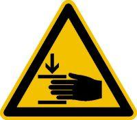 Warnschild Fol Handverletzung SL100mm Bild 1