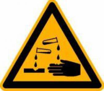 Warnung ätzenden Stoffen PVC-Folie, selbstklebend Bild 1