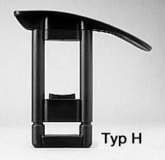 Armlehne H, Paar, schwarz Bild 1