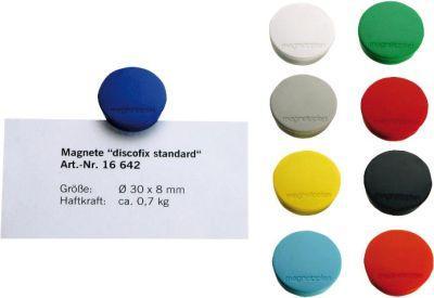Magnet D30mm VE10 Haftkraft 700 g weiss Bild 1