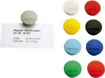 Magnet D34mm VE10 Haftkraft 1300 g rot Bild 1