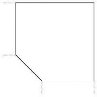 Trapezeckplatte 1200x1200 mm Nussbaum STRECKE Bild 1