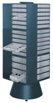 Drehständer leer 1600 mm hoch blau Bild 1