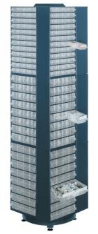 Drehständer leer 1760 mm hoch blau Bild 1