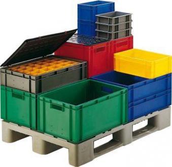 Stapeltransportkasten 600x400x145 mm grau Bild 1
