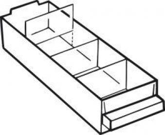 Trennwand Satz a 36 Stk. für Schublade Typ E Bild 1