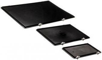 Verschlussdeckel schwarz für Kastenmaß 600x400 mm Bild 1