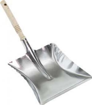 Metall-Kehrschaufel verzinkt, mit Holzgriff Bild 1