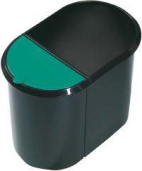 Papierkorb Duo-System schwarz/blau Bild 1