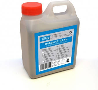 Strahlgut 0,2 - 0,5 mm Güde 1,5 kg für Druckluft Sandstrahlgeräte