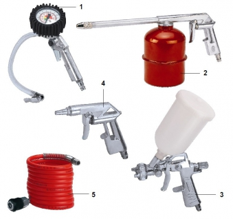 Einhell Druckluft-Set Profi 5-teilig / Zubehör Kompressor Bild 1