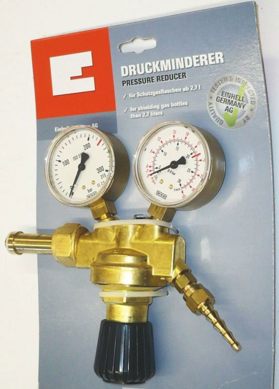 Einhell Druckminderer für Schutzgasflaschen 2 Mano Bild 1