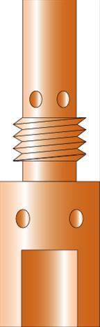 Gasdüsenträger M6-35 mm MB25 Bild 1