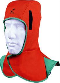 Kopf- und Nackenschutz Stoff orange Bild 1