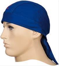Kopftuch Gewebe, feuer- fest, blau Bild 1