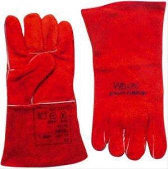 Schweißerhandschuh rot Gr. L 1Paar WELDAS Bild 1