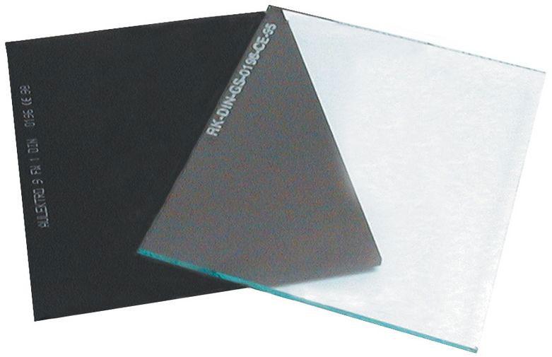 Vorsatzglas 90 x 110 mm für Güde Schweißschutzhelm DIN 11 Bild 1
