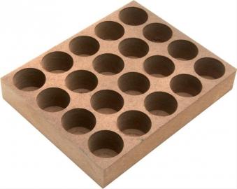 Holzsockel für ER16 10 Bohrungen Bild 1