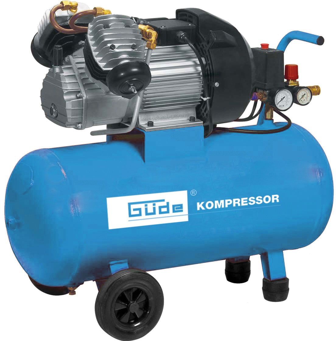 Kompressor 400/10/50 DG Güde 15-teiliges Set Bild 1