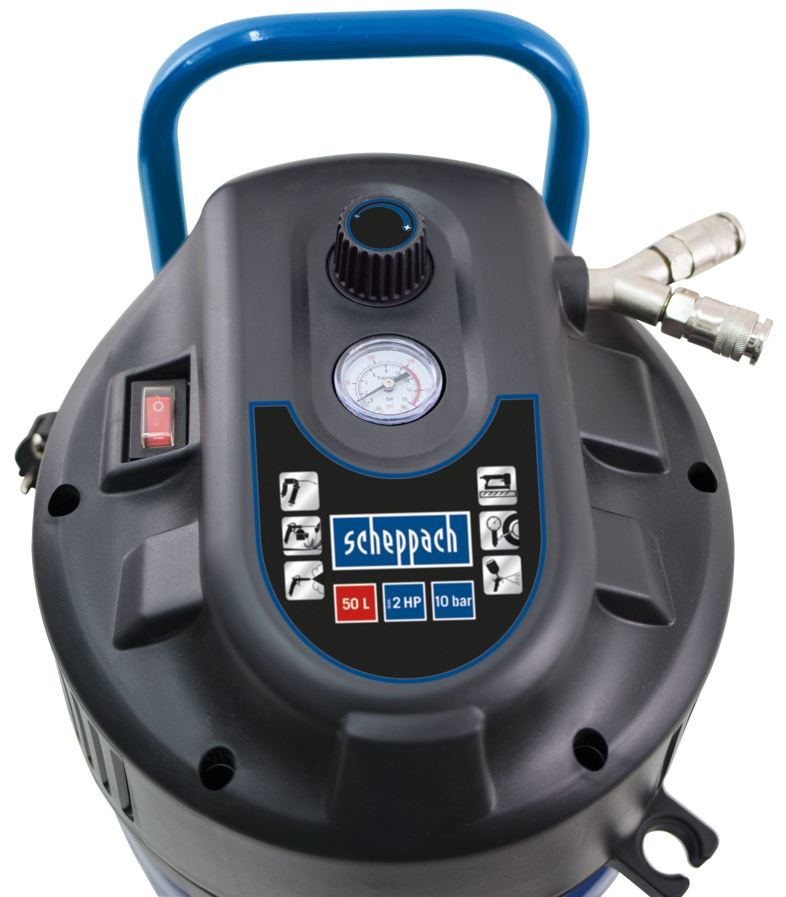 Scheppach Kompressor HC51V 10 bar 50 Liter 230V 1500W Bild 2
