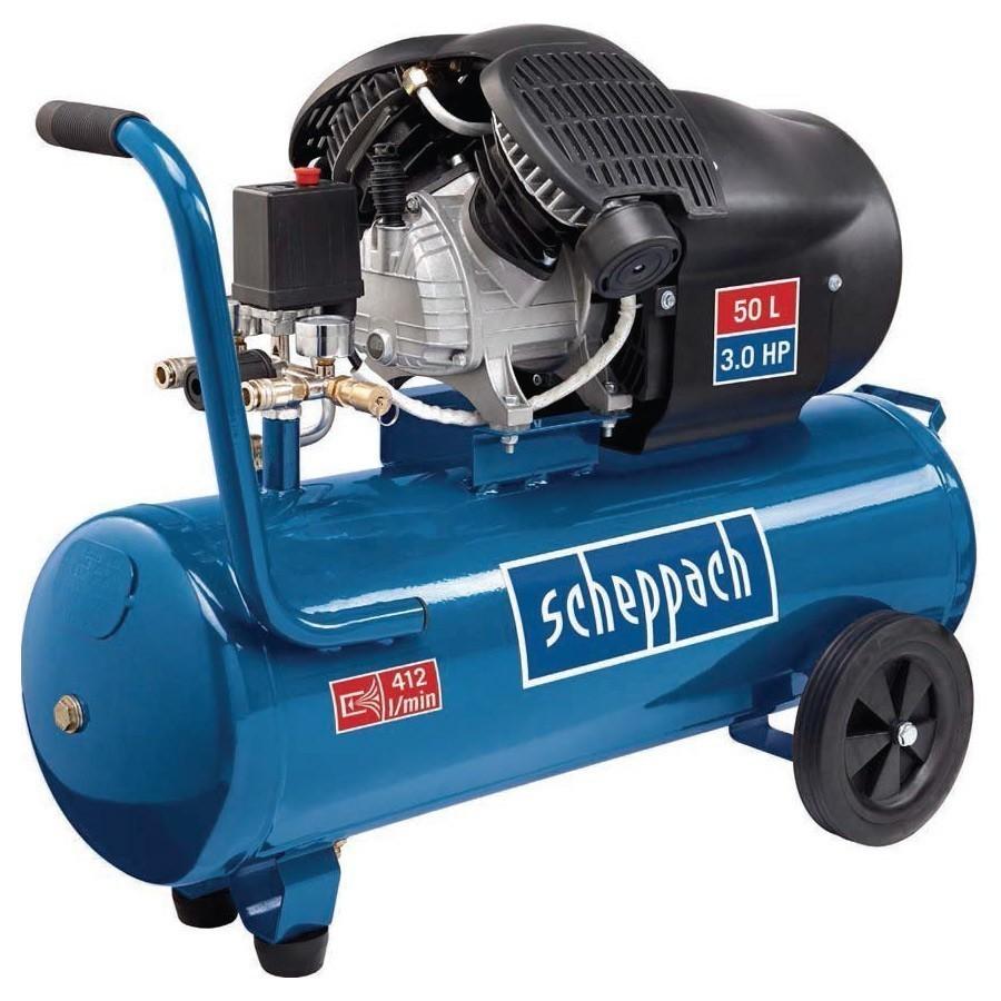kompressor scheppach hc53dc doppelzylinder 50l 10 bar 230v bei edingershops de