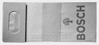 Bosch Staubbeutel Papier Bofür PEX 15AE A 3 Stück Einweg