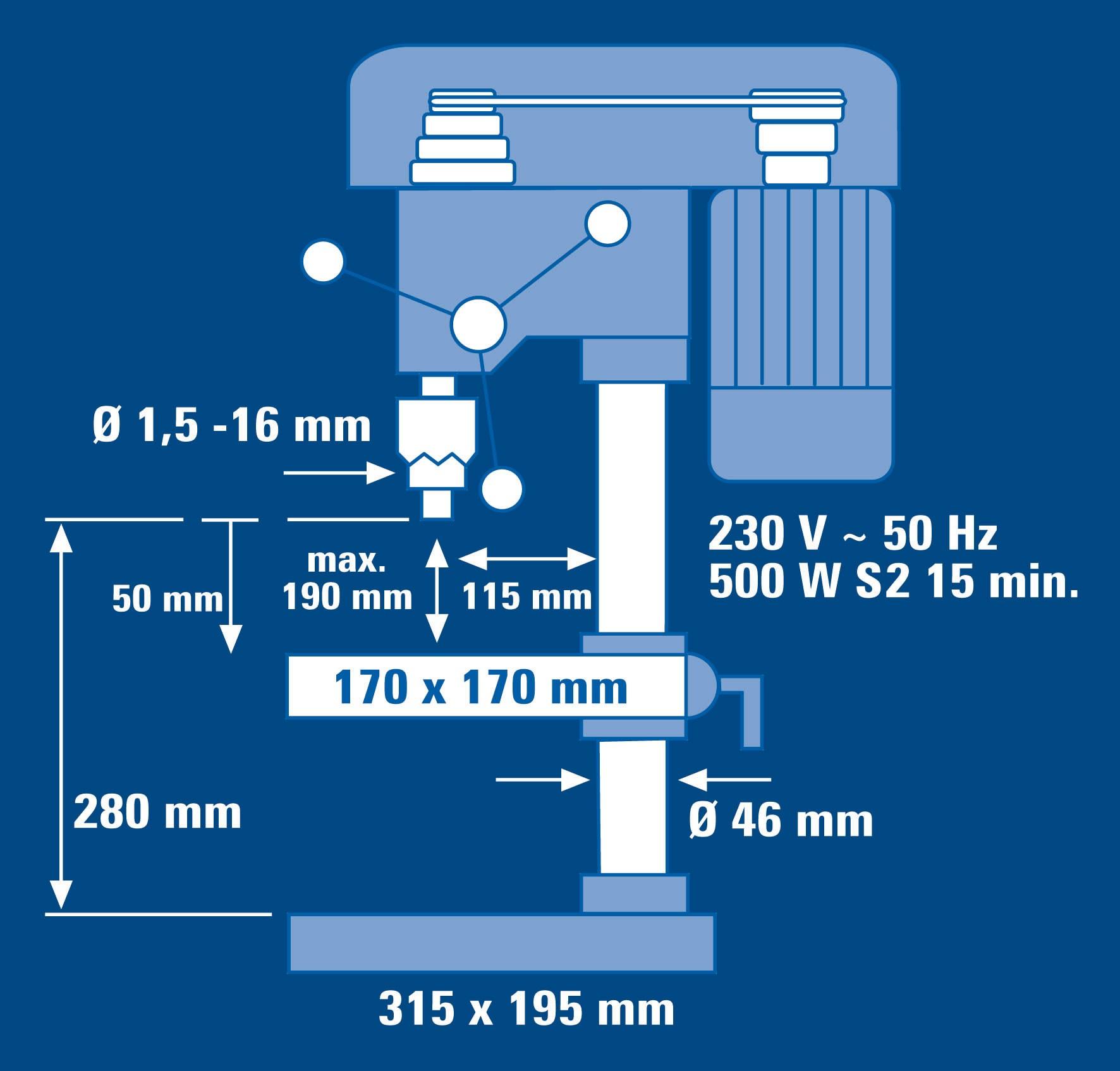 Einhell Säulenbohrmaschine BT-BD 501 500 Watt Bild 3