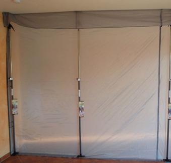 Staubschutzwand / Staubschutzsystem Glück 310x310cm