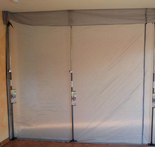 Staubschutzwand / Staubschutzsystem Glück 310x310cm Bild 1