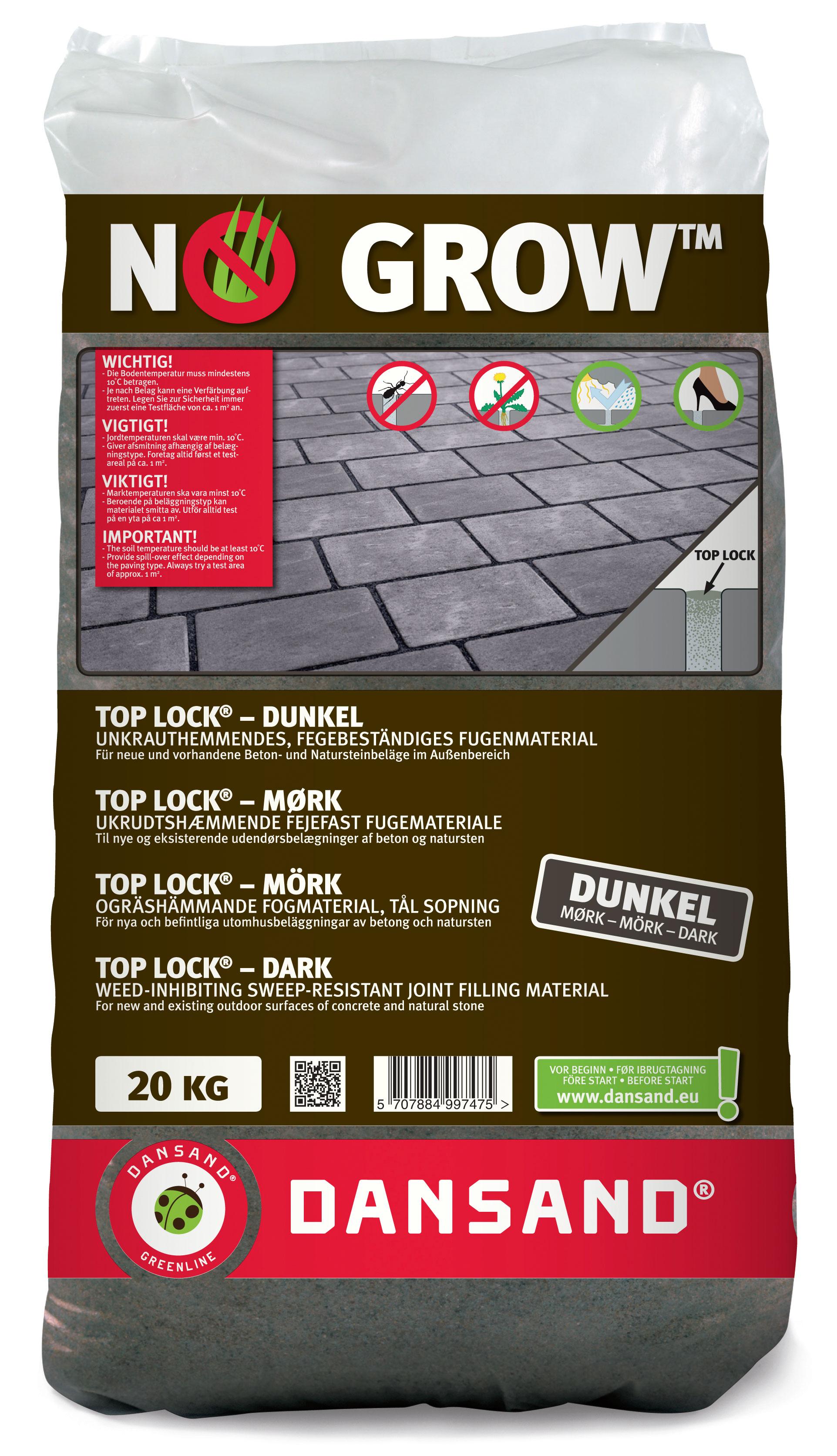 fugenmaterial top lock no grow dansand 3-10mm 20 kg dunkel - bei