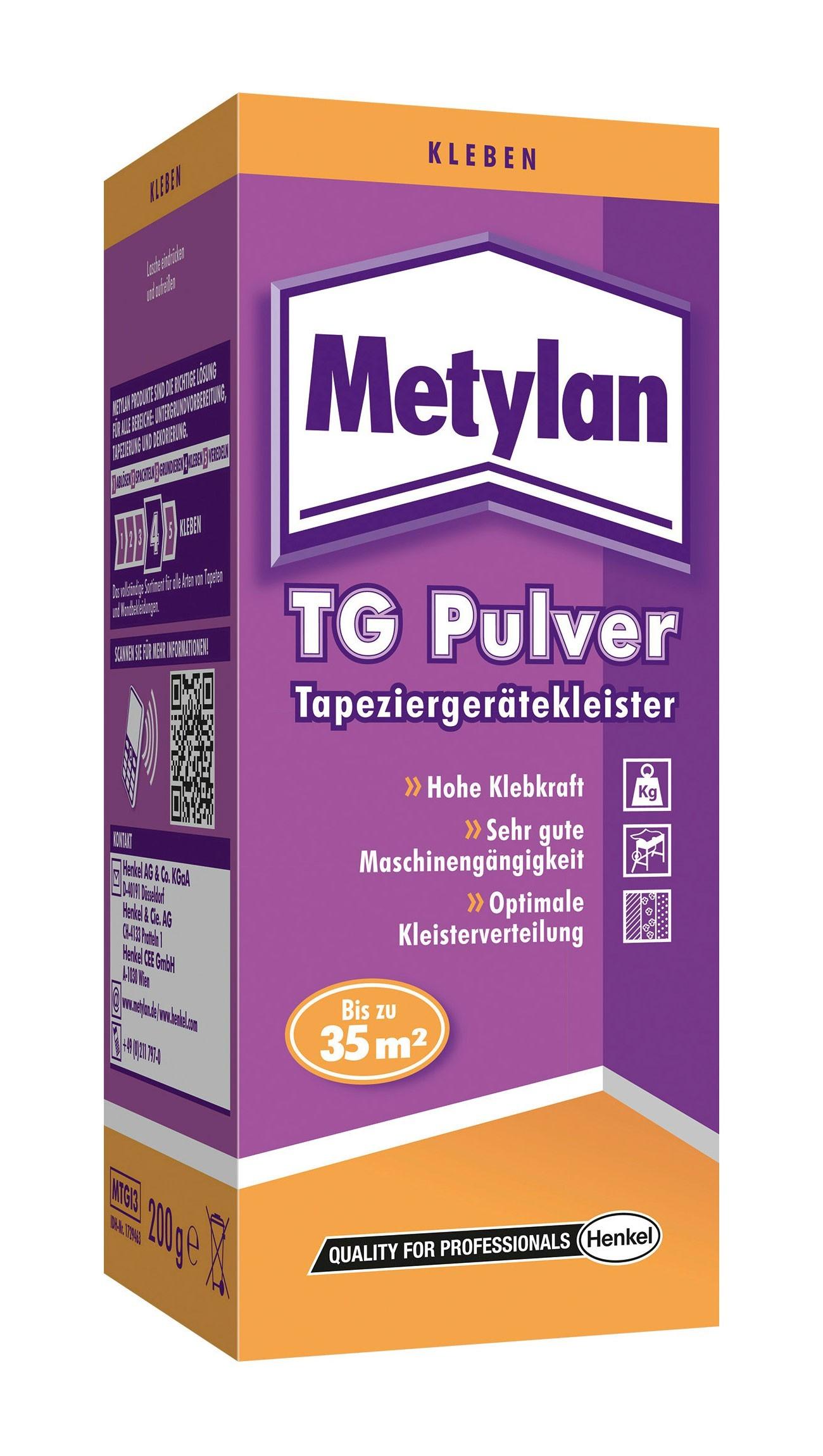 Metylan Kleister / TG Pulver Tapeziergerätekleister 200g Bild 1