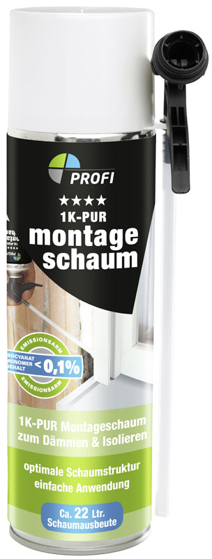 Montageschaum 1K-PUR PROFI 400 ml Bild 1