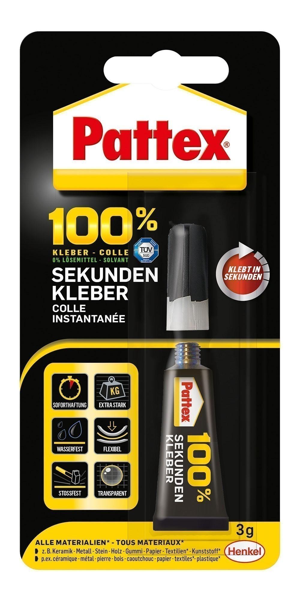 Pattex 100% Sekundenkleber 3g Bild 1
