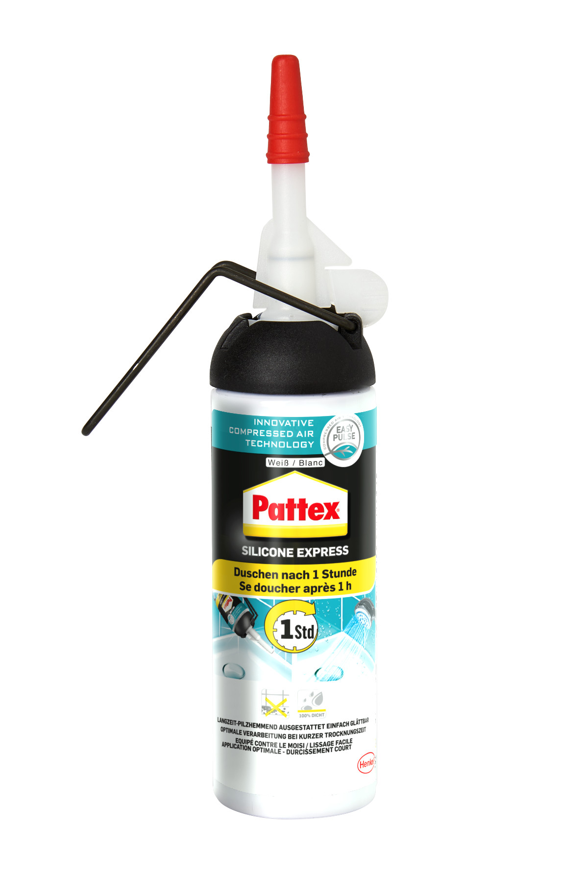 Pattex Express Silikon weiß 100ml Bild 1