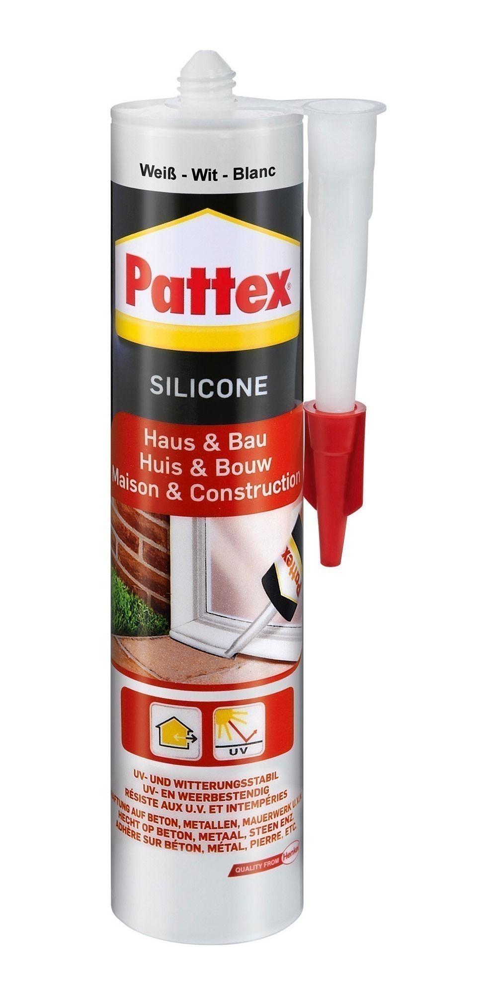 Pattex Haus & Bau Silikon weiß 300ml Bild 1