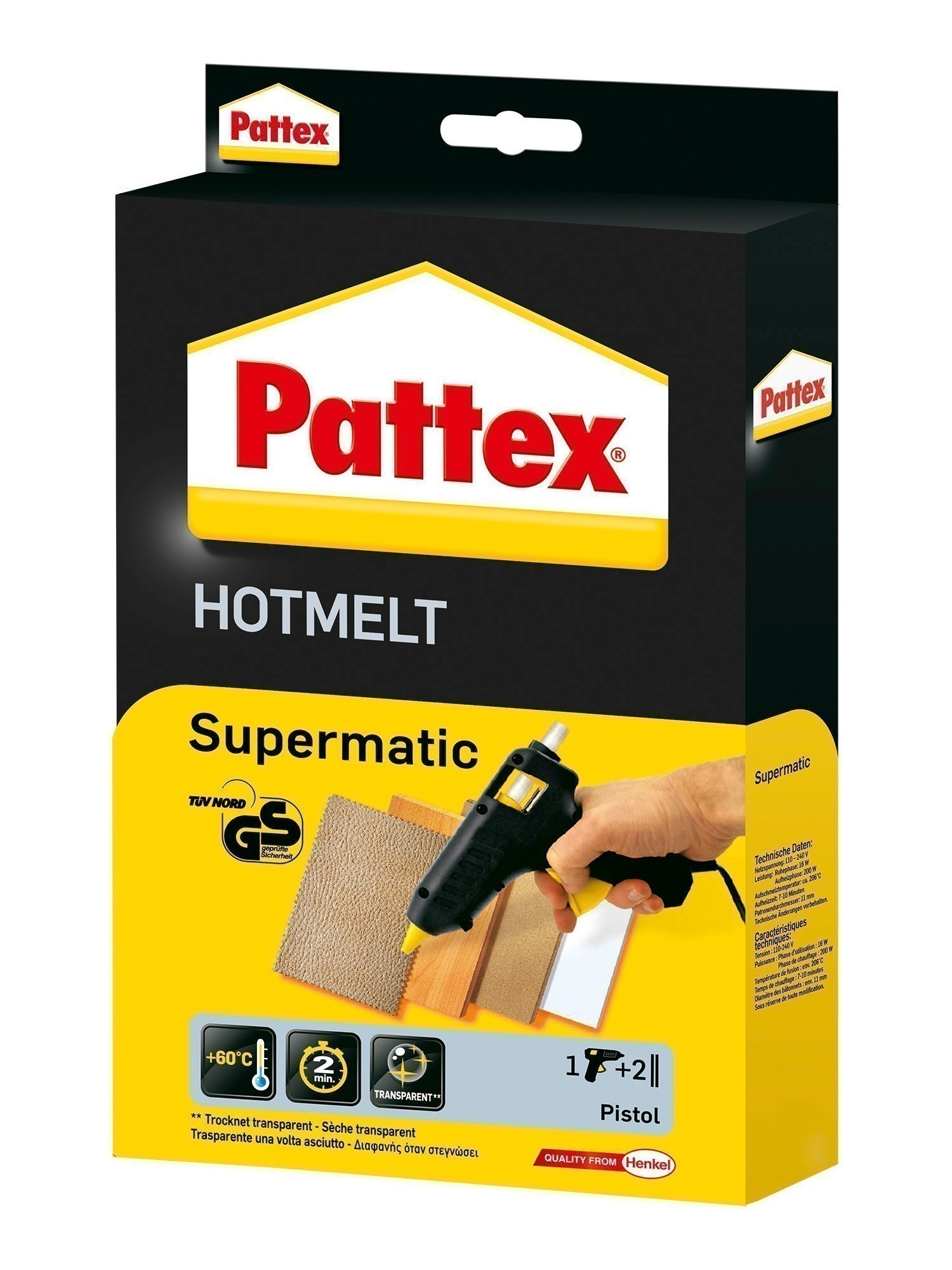 Pattex Heißkleber HOTMELT Supermatic / Heißklebepistole 1 Stück Bild 1