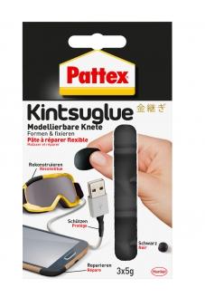 Pattex Kintsuglue flexible Knete schwarz 3 x 5g Bild 1