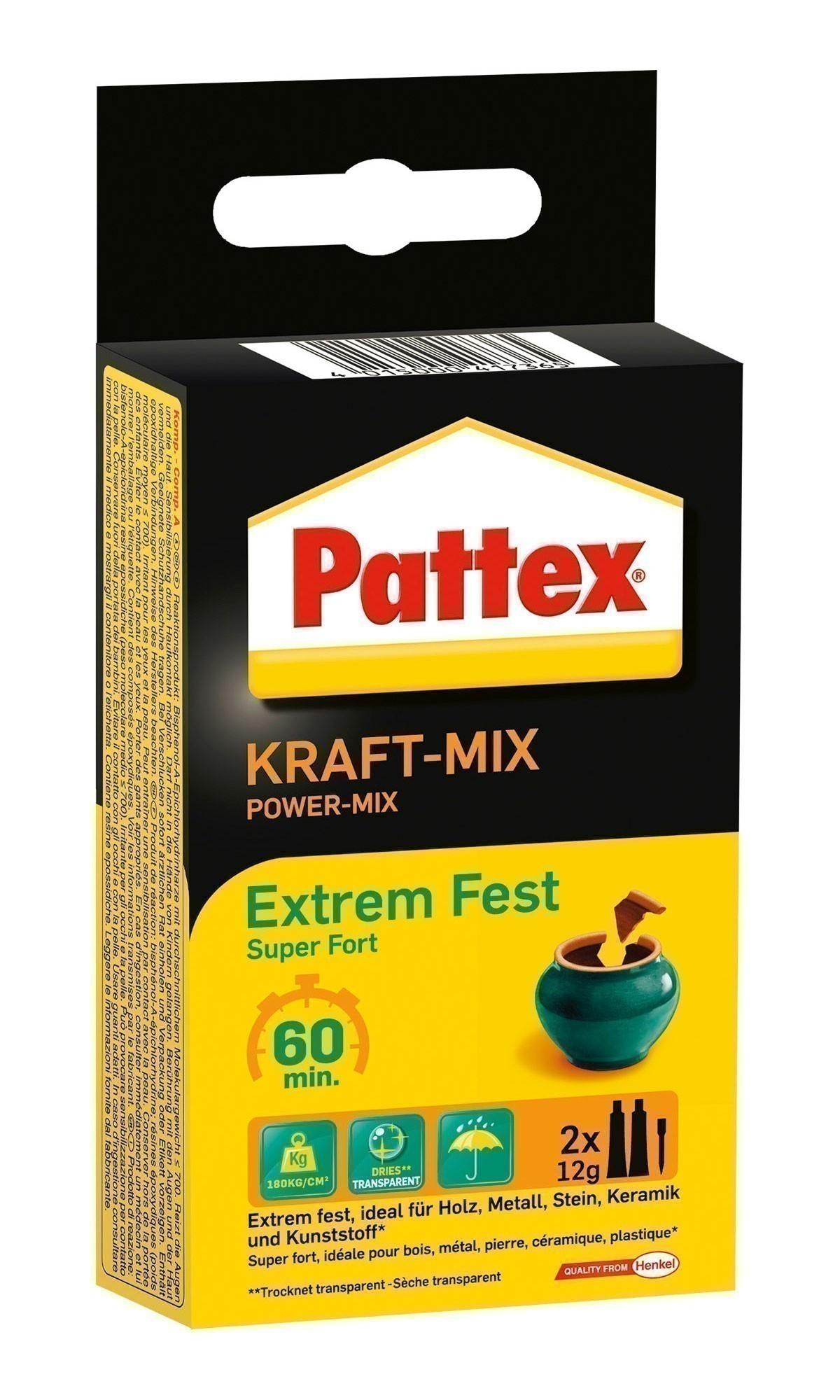 Pattex Power Kleber / 2Komponenten-Kleber Kraft-Mix Extrem Fest 2x11ml Bild 1