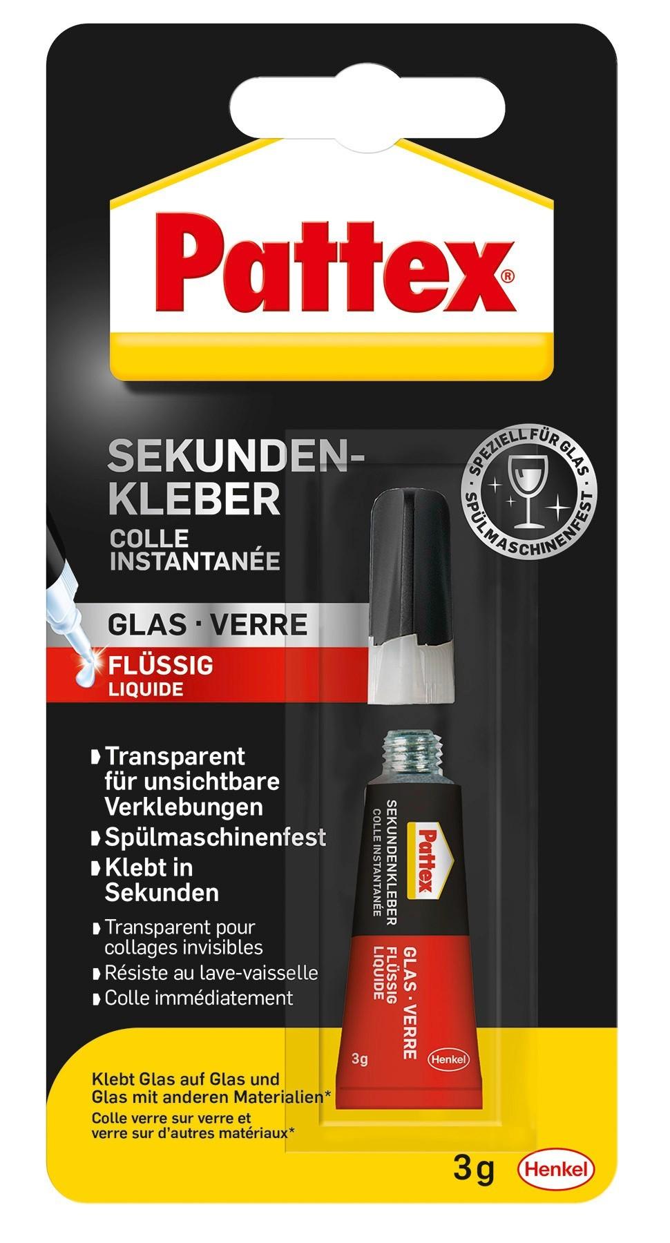Pattex Sekundenkleber Glas flüssig 3g Bild 1