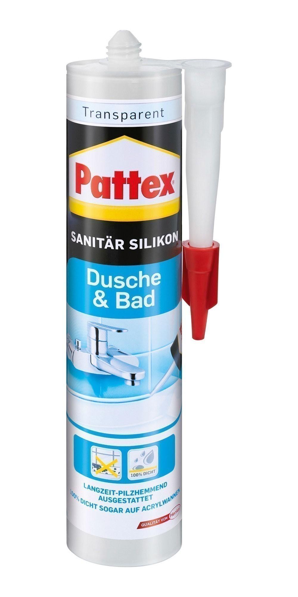 Pattex Silikon / Dusche & Bad Silikon transparent 300ml Bild 1