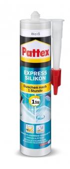 Pattex Silikon / Express Silikon weiß 300ml Bild 1